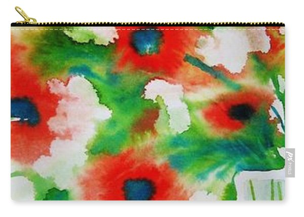 Flowers In A Glass Carry-all Pouch