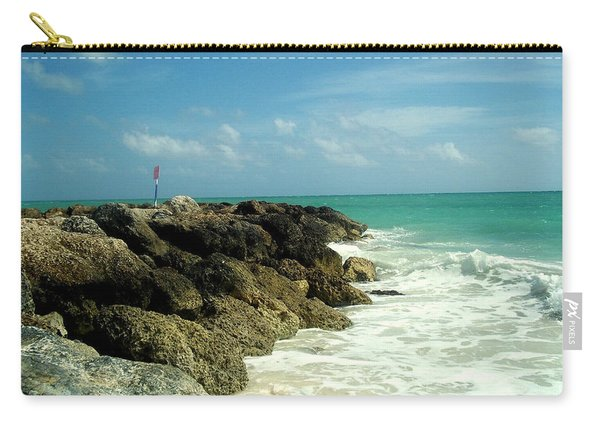 Carry-all Pouch featuring the photograph Freeport Coast by Cynthia Amaral