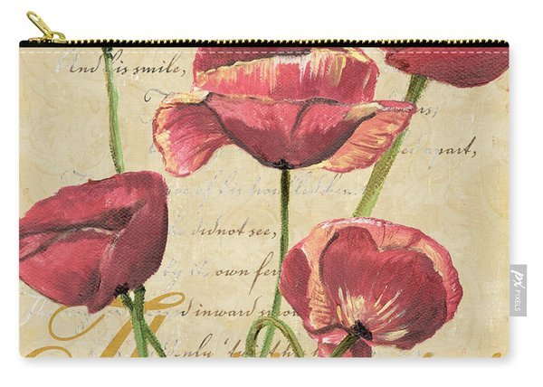French Pink Poppies 2 Carry-all Pouch