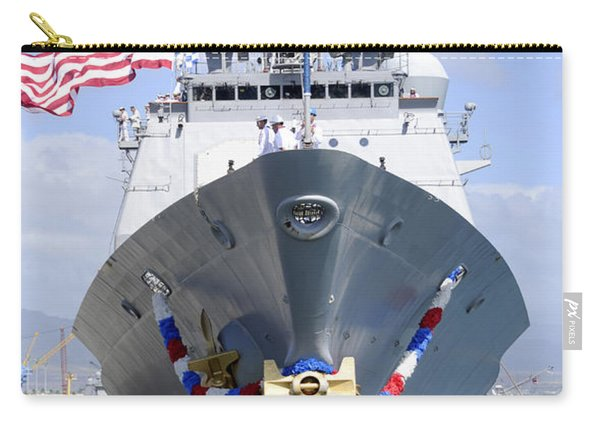 Front View Of Guided-missile Cruiser Carry-all Pouch