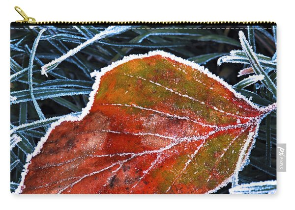 Frosty Leaf Carry-all Pouch