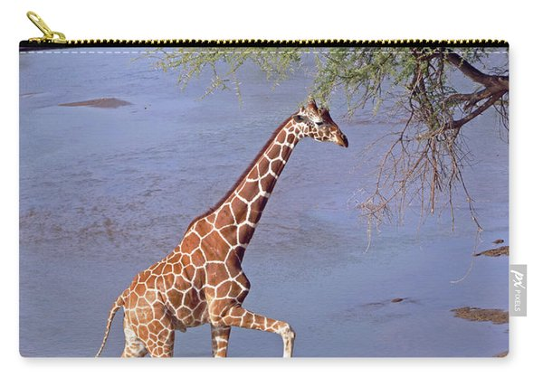 Giraffe Crossing Stream Carry-all Pouch