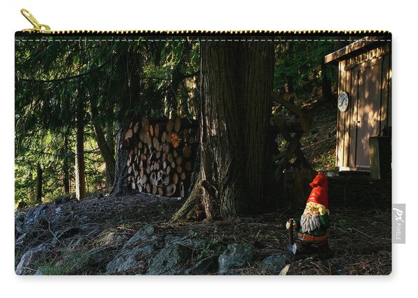 Gnome And The Woodpile Carry-all Pouch