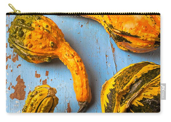 Gourds On Wooden Blue Board Carry-all Pouch