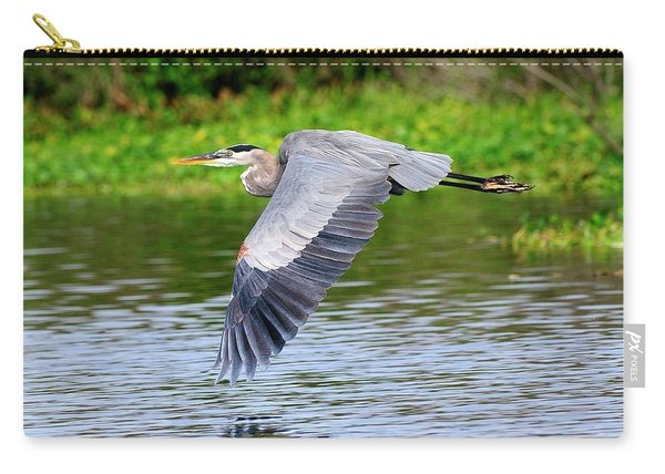 Great Blue Heron Inflight Carry-all Pouch