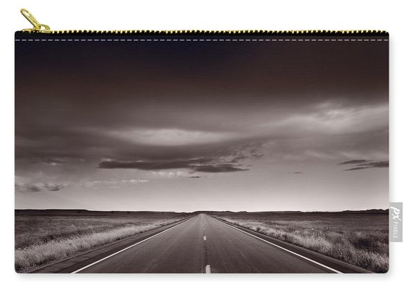 Great Plains Road Trip Bw Carry-all Pouch
