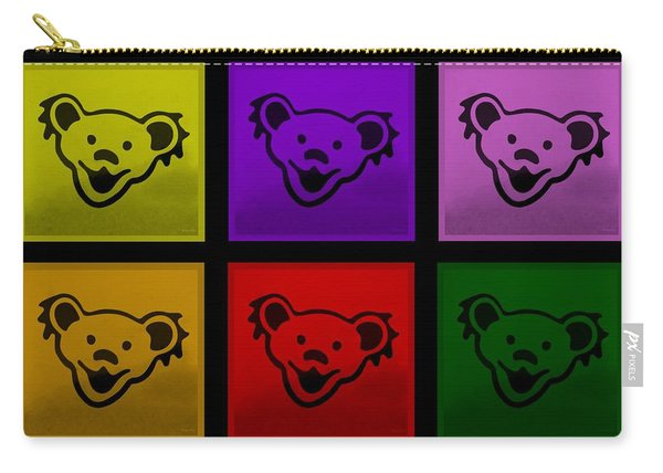 Greatful Dead Dancing Bears In Multi Colors Carry-all Pouch