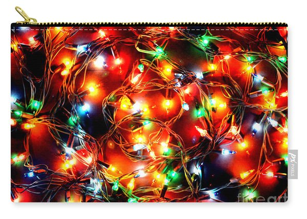 Greeting Card Christmas Color Lights Carry-all Pouch