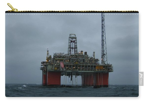 Grey Day At Snorre Carry-all Pouch
