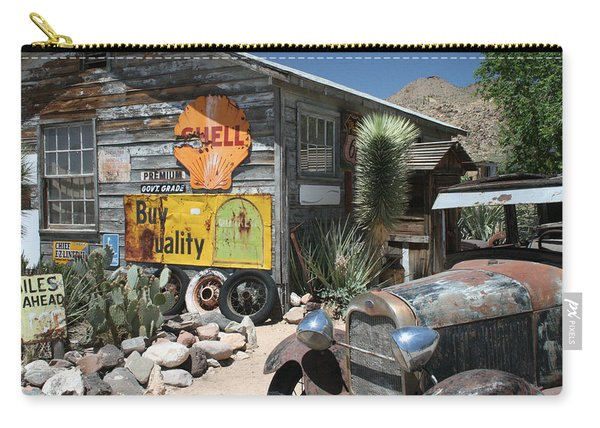 Hackberry Signs   Arizona Route 66 Carry-all Pouch