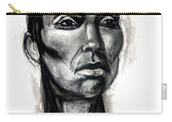 Carry-all Pouch featuring the drawing Head Study by Gabrielle Wilson-Sealy