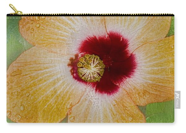 Hibiscus Gold And Red Carry-all Pouch