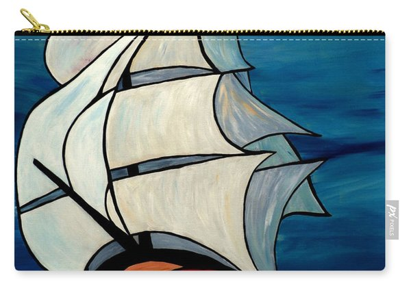 Carry-all Pouch featuring the painting High Sea by Cynthia Amaral