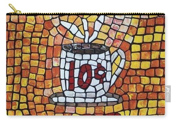 Carry-all Pouch featuring the painting Hot Coffee 10cents by Cynthia Amaral