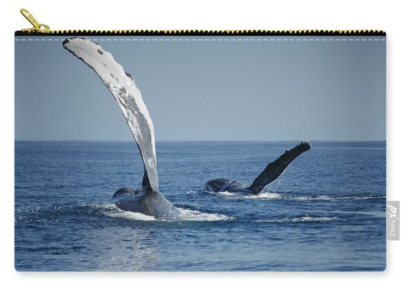 Humpback Whale Pectoral Slap Maui Carry-all Pouch