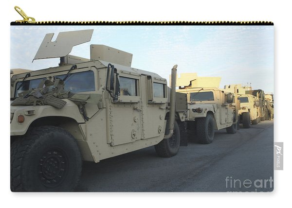 Humvees Sit On The Pier At Morehead Carry-all Pouch