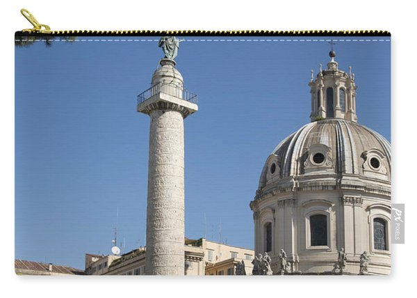 Imperial Fora With The Trajan's Column And The Church Santissimo Nome Di Maria.  Rome Carry-all Pouch