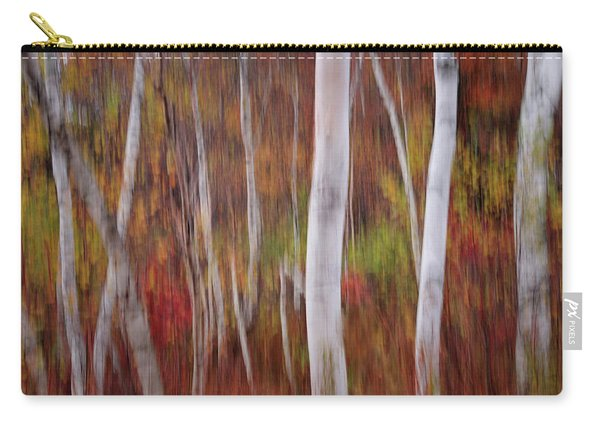 Abstract Impressions Vermont Birch Forest  Carry-all Pouch