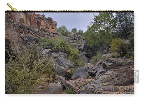 Carry-all Pouch featuring the photograph In The Arroyo   by Ron Cline
