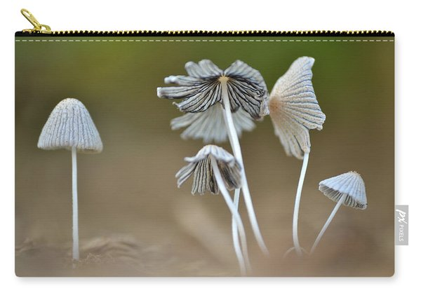 Ink-cap Mushrooms Carry-all Pouch