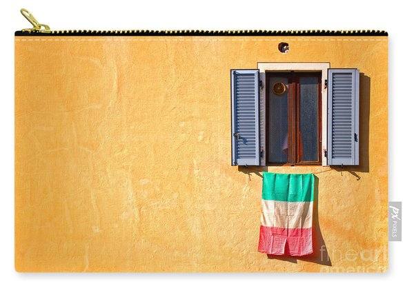 Italian Flag Window And Yellow Wall Carry-all Pouch