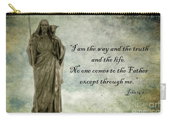 Jesus - Christian Art - Religious Statue Of Jesus - Bible Quote Carry-all Pouch