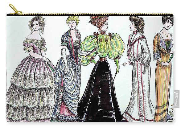 Ladies Of Fashion 1860 To 1910 Carry-all Pouch