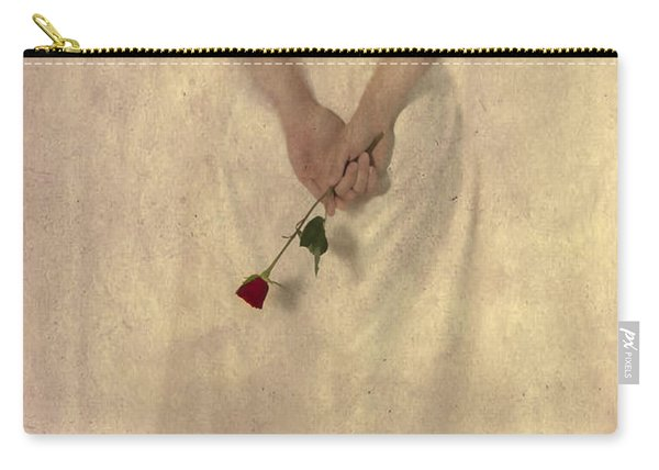 Lady With A Rose Carry-all Pouch