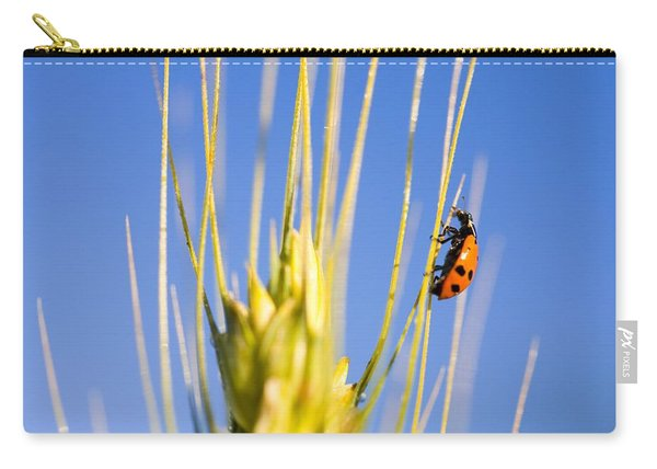 Ladybug On Wheat Carry-all Pouch