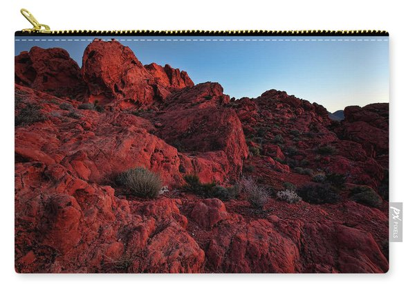Last Light In Valley Of Fire Carry-all Pouch