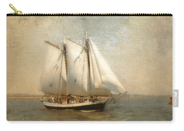 Liberty Clipper On Boston Harbor Carry-all Pouch
