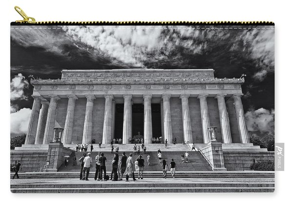 Lincoln Memorial In Black And White Carry-all Pouch