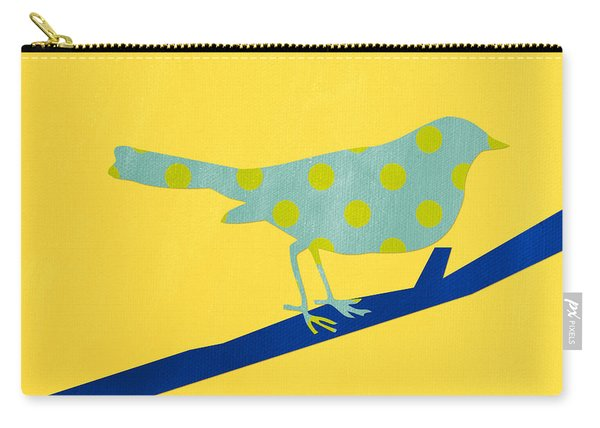Little Blue Bird Carry-all Pouch