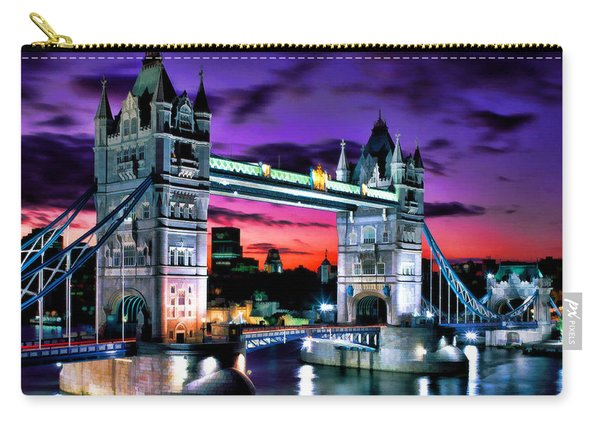 London Evening At Tower Bridge Carry-all Pouch