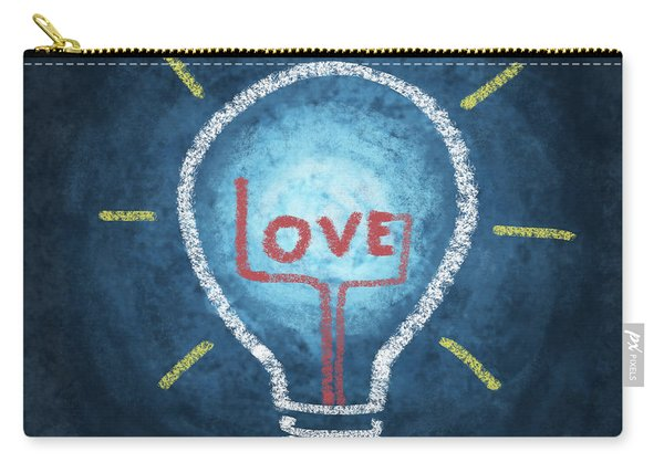 Love Word In Light Bulb Carry-all Pouch