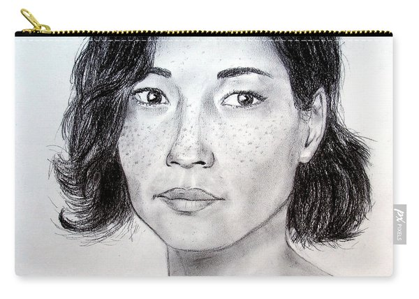 Lucy Liu Portrait Carry-all Pouch