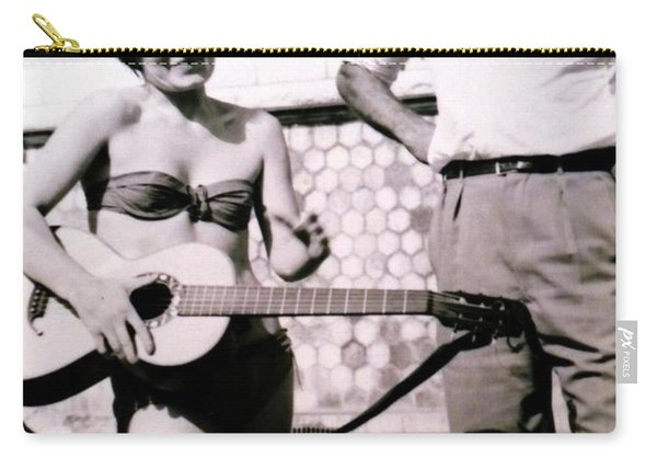 Mama Chris And Gary Cooper In Monte Carlo 1958 Carry-all Pouch