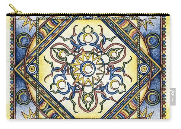 Mandala Of The Sun Carry-all Pouch