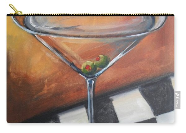 Martini On Checkered Tablecloth Carry-all Pouch
