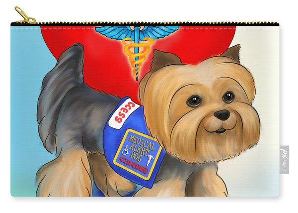 Medical Alert Yorkie Carry-all Pouch