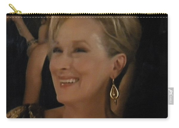 Carry-all Pouch featuring the photograph Meryl Streep Portrait  by Colette V Hera  Guggenheim