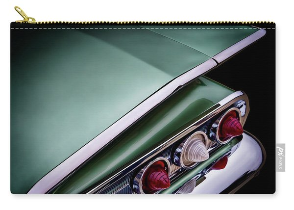 Metalic Green Impala Wing Vingage 1960 Carry-all Pouch