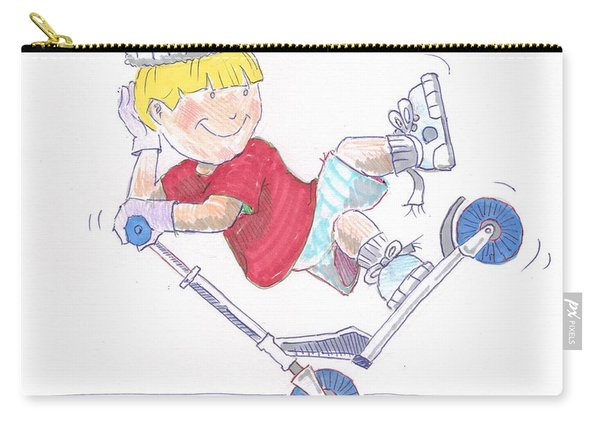 Microscooter Cartoon Carry-all Pouch