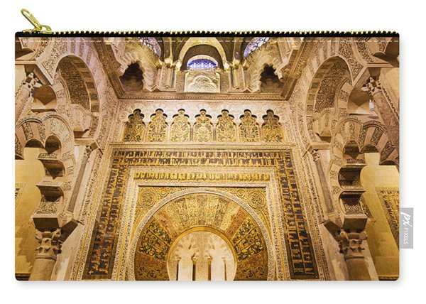 Mihrab And Ceiling Of Mezquita In Cordoba Carry-all Pouch