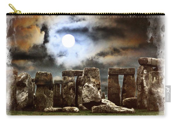 Moon Over Stonehenge Carry-all Pouch