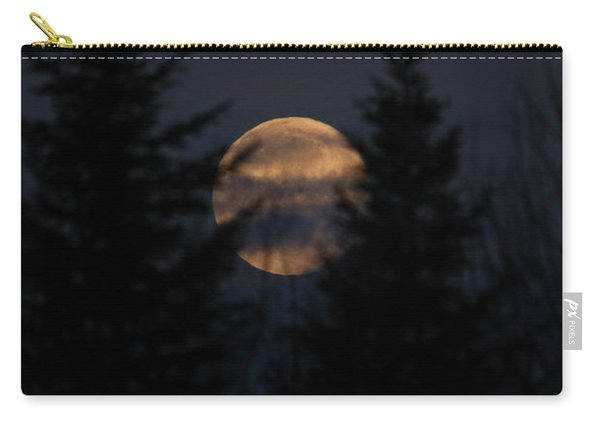 Moonset In The Spruce Bog Carry-all Pouch