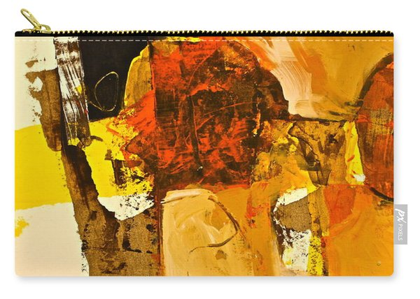 Carry-all Pouch featuring the painting Mural Study 101246-61601 by Cliff Spohn