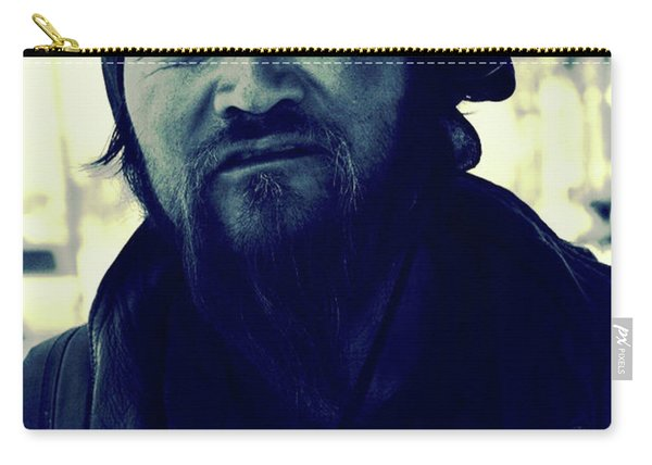 Navy Blue Man Carry-all Pouch