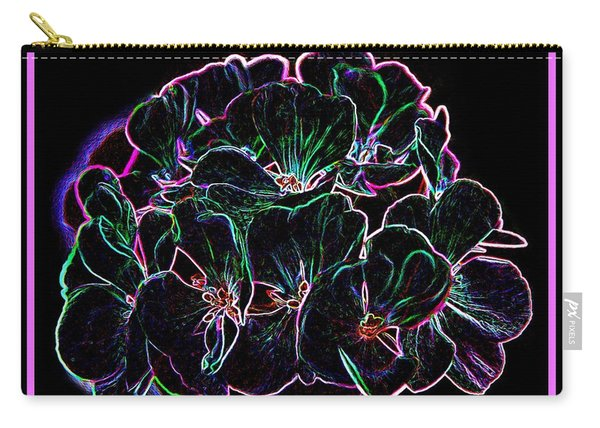 Neon Flowers Carry-all Pouch