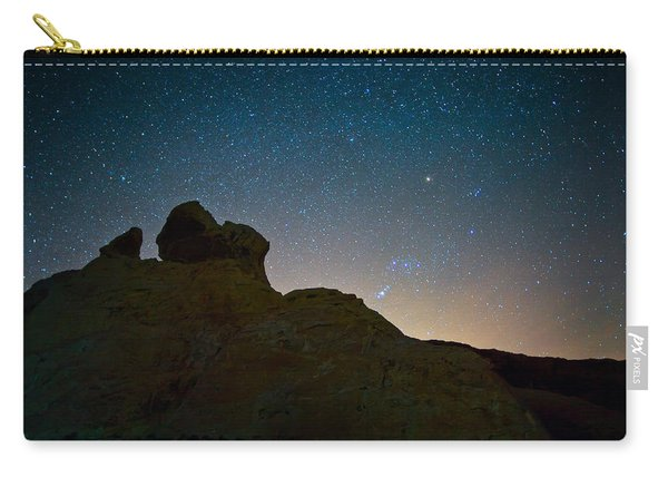 Night Sky Over Valley Of Fire Carry-all Pouch
